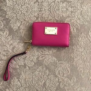 Michael Kors Pink Wristlet Wallet